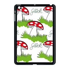 Mushroom Luck Fly Agaric Lucky Guy Apple Ipad Mini Case (black) by Nexatart
