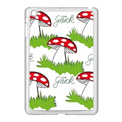 Mushroom Luck Fly Agaric Lucky Guy Apple Ipad Mini Case (white) by Nexatart