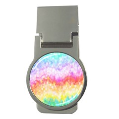 Rainbow Pontilism Background Money Clips (round)  by Nexatart