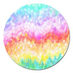 Rainbow Pontilism Background Magnet 5  (round) by Nexatart