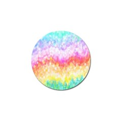 Rainbow Pontilism Background Golf Ball Marker (10 Pack)