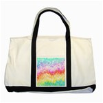 Rainbow Pontilism Background Two Tone Tote Bag Front