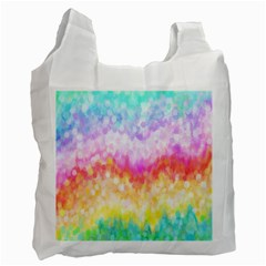 Rainbow Pontilism Background Recycle Bag (one Side) by Nexatart