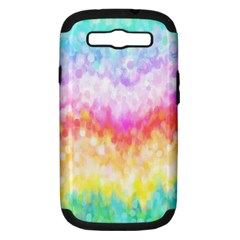 Rainbow Pontilism Background Samsung Galaxy S Iii Hardshell Case (pc+silicone)