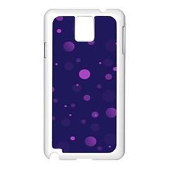 Decorative Dots Pattern Samsung Galaxy Note 3 N9005 Case (white) by ValentinaDesign