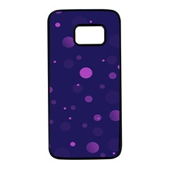 Decorative Dots Pattern Samsung Galaxy S7 Black Seamless Case by ValentinaDesign