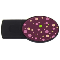 Decorative Dots Pattern Usb Flash Drive Oval (4 Gb) by ValentinaDesign