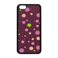 Decorative Dots Pattern Apple Iphone 5c Seamless Case (black) by ValentinaDesign