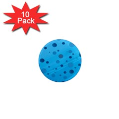 Decorative Dots Pattern 1  Mini Magnet (10 Pack)  by ValentinaDesign