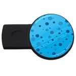 Decorative dots pattern USB Flash Drive Round (4 GB) Front