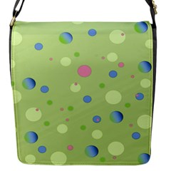 Decorative Dots Pattern Flap Messenger Bag (s) by ValentinaDesign