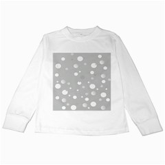 Decorative Dots Pattern Kids Long Sleeve T Shirts by ValentinaDesign