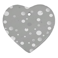 Decorative Dots Pattern Heart Ornament (two Sides) by ValentinaDesign