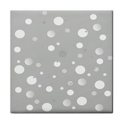 Decorative Dots Pattern Face Towel by ValentinaDesign