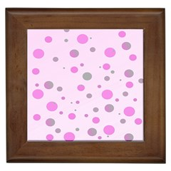 Decorative Dots Pattern Framed Tiles by ValentinaDesign
