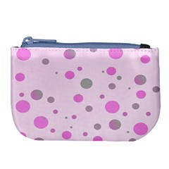 Decorative Dots Pattern Large Coin Purse by ValentinaDesign