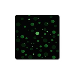 Decorative Dots Pattern Square Magnet by ValentinaDesign
