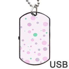 Decorative Dots Pattern Dog Tag Usb Flash (two Sides) by ValentinaDesign