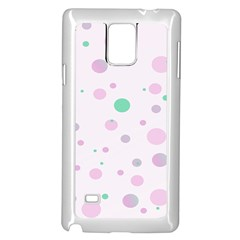 Decorative Dots Pattern Samsung Galaxy Note 4 Case (white) by ValentinaDesign