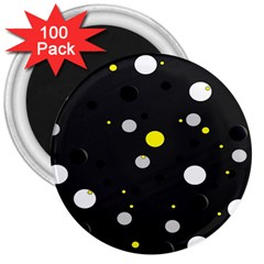 Decorative Dots Pattern 3  Magnets (100 Pack) by ValentinaDesign