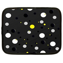 Decorative Dots Pattern Netbook Case (large) by ValentinaDesign