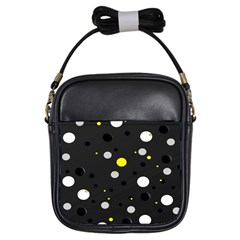 Decorative Dots Pattern Girls Sling Bags by ValentinaDesign