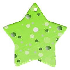 Decorative Dots Pattern Star Ornament (two Sides) by ValentinaDesign