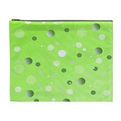 Decorative Dots Pattern Cosmetic Bag (xl) by ValentinaDesign