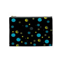 Decorative Dots Pattern Cosmetic Bag (medium)  by ValentinaDesign