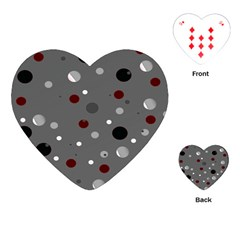 Decorative Dots Pattern Playing Cards (heart)  by ValentinaDesign
