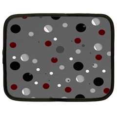 Decorative Dots Pattern Netbook Case (xxl)  by ValentinaDesign