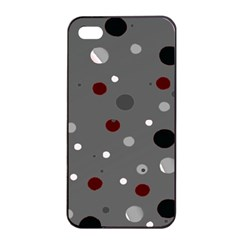 Decorative Dots Pattern Apple Iphone 4/4s Seamless Case (black) by ValentinaDesign
