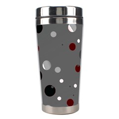 Decorative Dots Pattern Stainless Steel Travel Tumblers by ValentinaDesign