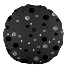 Decorative Dots Pattern Large 18  Premium Flano Round Cushions by ValentinaDesign