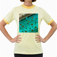 Decorative Dots Pattern Women s Fitted Ringer T-shirts by ValentinaDesign