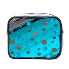 Decorative Dots Pattern Mini Toiletries Bags by ValentinaDesign