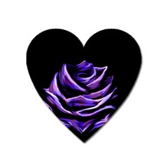 Rose Flower Design Nature Blossom Heart Magnet by Nexatart