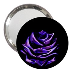 Rose Flower Design Nature Blossom 3  Handbag Mirrors by Nexatart