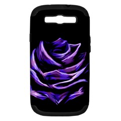Rose Flower Design Nature Blossom Samsung Galaxy S Iii Hardshell Case (pc+silicone)