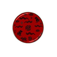 Aztecs Pattern Hat Clip Ball Marker (10 Pack) by ValentinaDesign