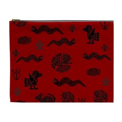 Aztecs Pattern Cosmetic Bag (xl) by ValentinaDesign