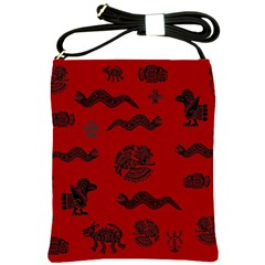 Aztecs Pattern Shoulder Sling Bags