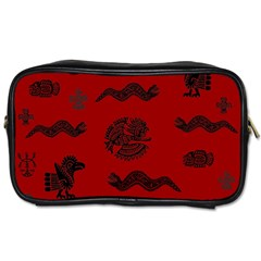 Aztecs Pattern Toiletries Bags 2 Side by ValentinaDesign