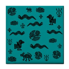 Aztecs Pattern Tile Coasters by ValentinaDesign