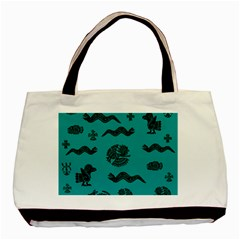 Aztecs Pattern Basic Tote Bag by ValentinaDesign