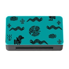 Aztecs Pattern Memory Card Reader With Cf by ValentinaDesign