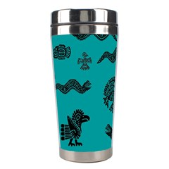 Aztecs Pattern Stainless Steel Travel Tumblers by ValentinaDesign