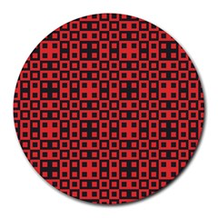 Abstract Background Red Black Round Mousepads by Nexatart