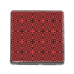 Abstract Background Red Black Memory Card Reader (square) by Nexatart