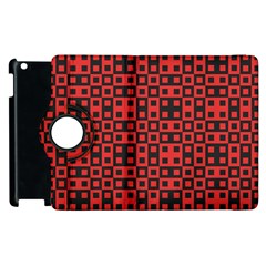 Abstract Background Red Black Apple Ipad 2 Flip 360 Case by Nexatart